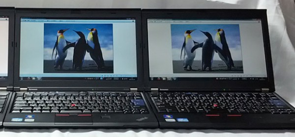 ThinkPad X220 TN vs IPS 液晶比較