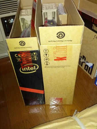 X220とX220iの箱サイズ比較1