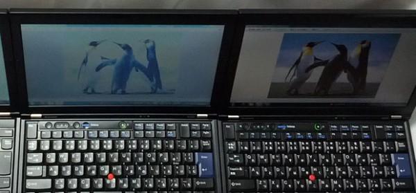 ThinkPad X220 TN vs IPS 上から液晶比較