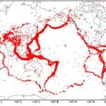 世界地震分布図