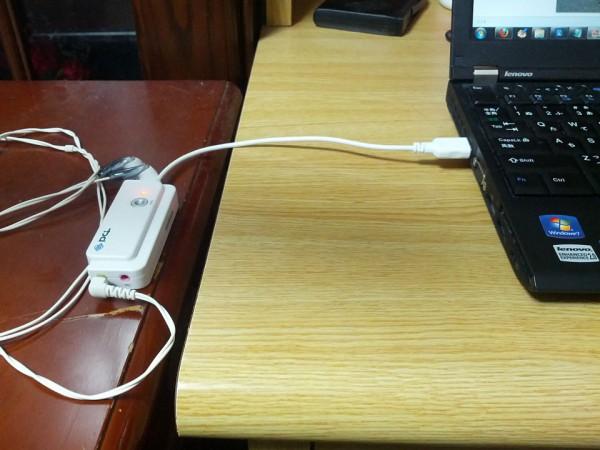 USBオーディオ変換アダプタ使用例