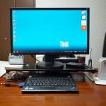 LIHITLAB TEFFA 机上台 ThinkPadと外付け液晶