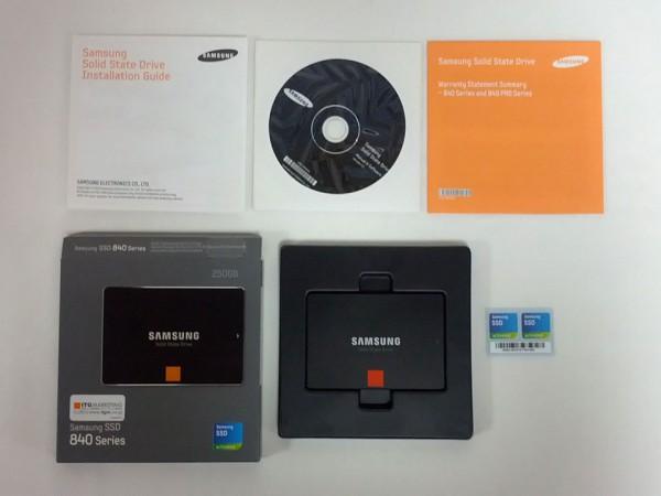 Samsung SSD 840 ベーシックキット パッケージ詳細