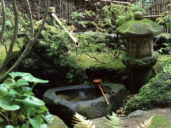 水と日本風庭園